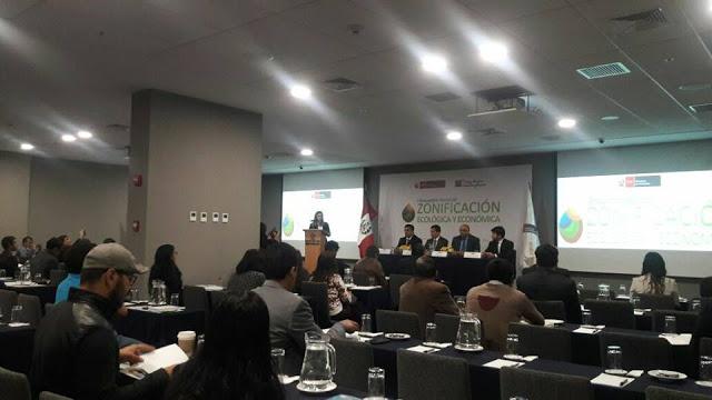 Primer Encuentro Nacional de Zonificación Ecológica y Económica, MINAM, Lima (Perú)